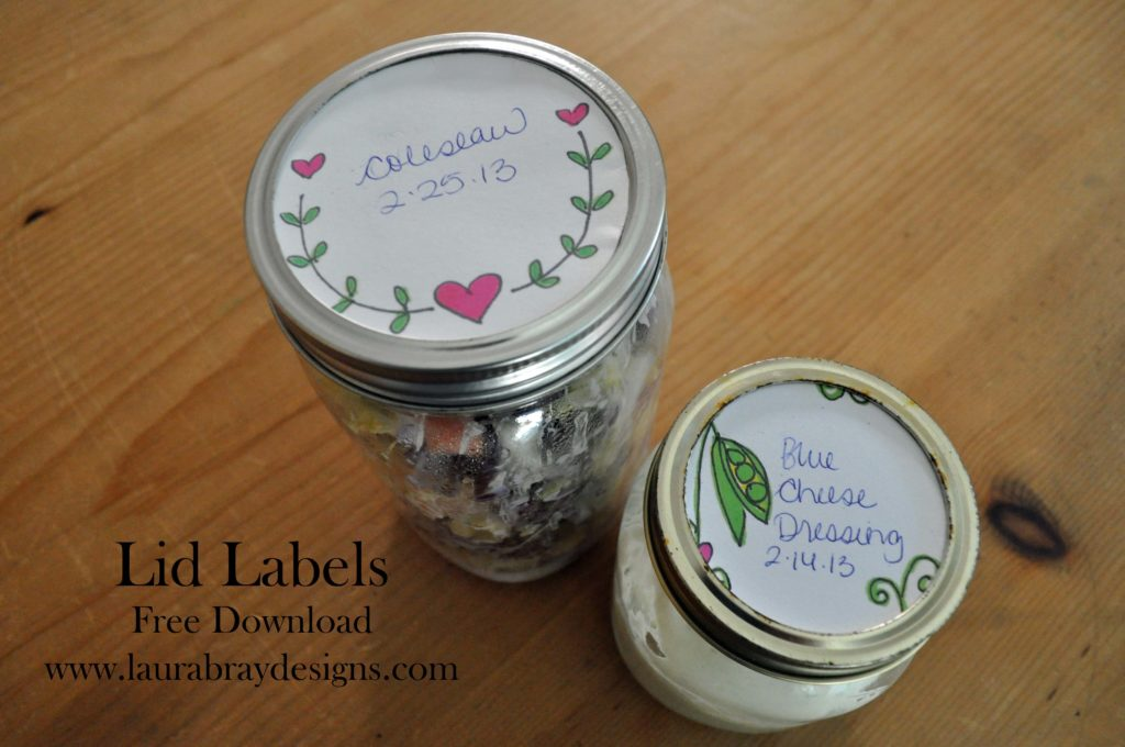 Lid Labels Download www.laurabraydesigns.com