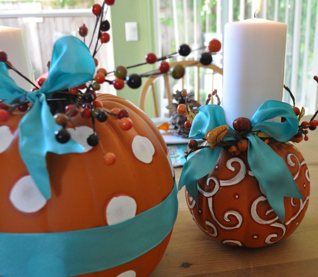 Thanksgiving Centerpieces by LauraBrayDesigns.com