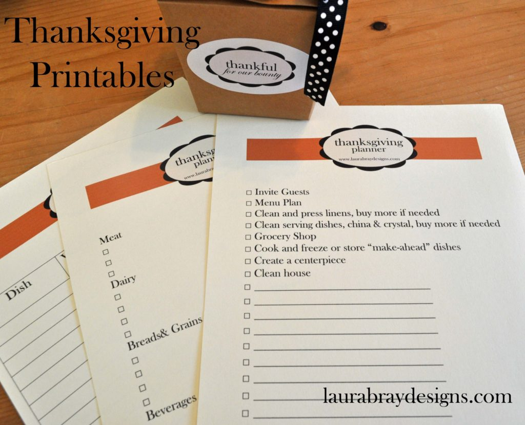 Thanksgiving Printables from laurabraydesigns.com