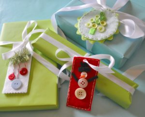 Make Button and Felt Gift Tags