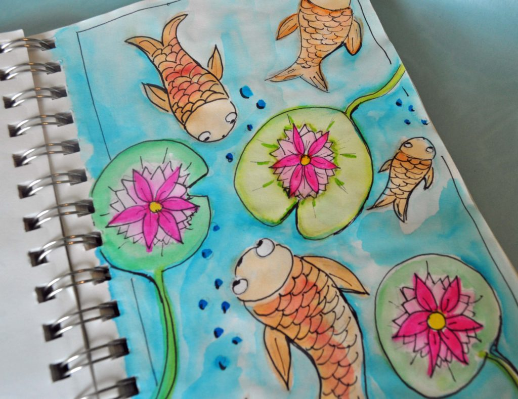 Carp Journal Page by LauraBrayDesigns.com