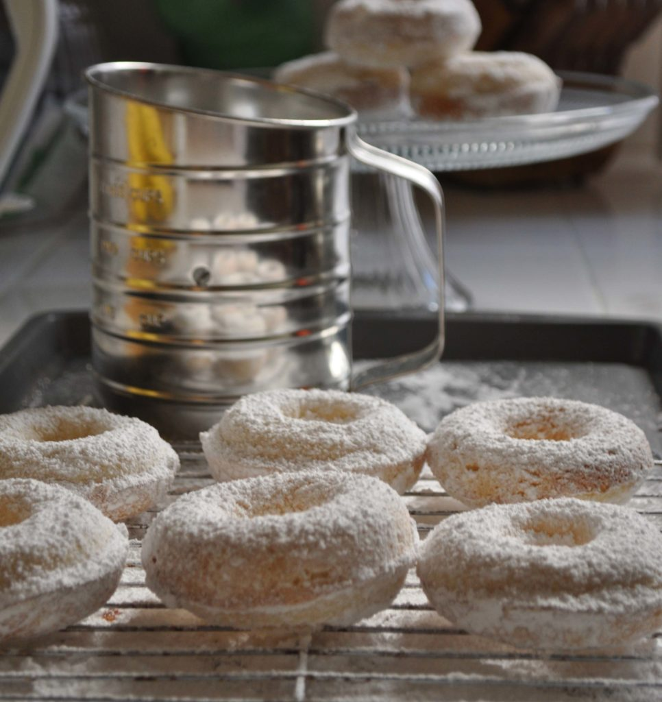 Powered Sugar Donuts www.laurabraydesigns.com