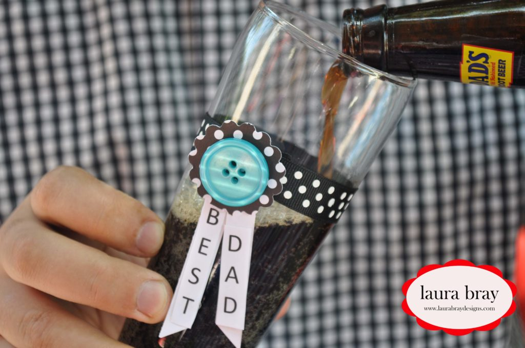 Father's Day Drink Charms with Buttons Galore and Glue Dots