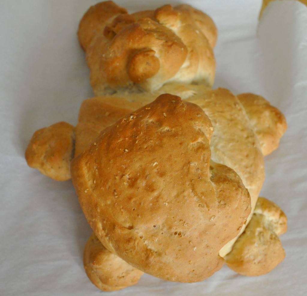Teddy Bear Shaped Bread on www.laurabraydesigns.com