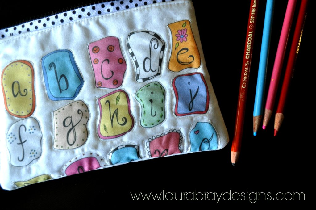 ABC Fabric by Laura Bray Designs: Zippered Pouch