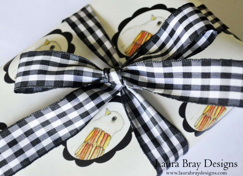 Brave Bird Gift Wrap by Laura Bray