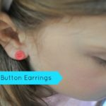Button Earrings & Free Mother's Day Printable