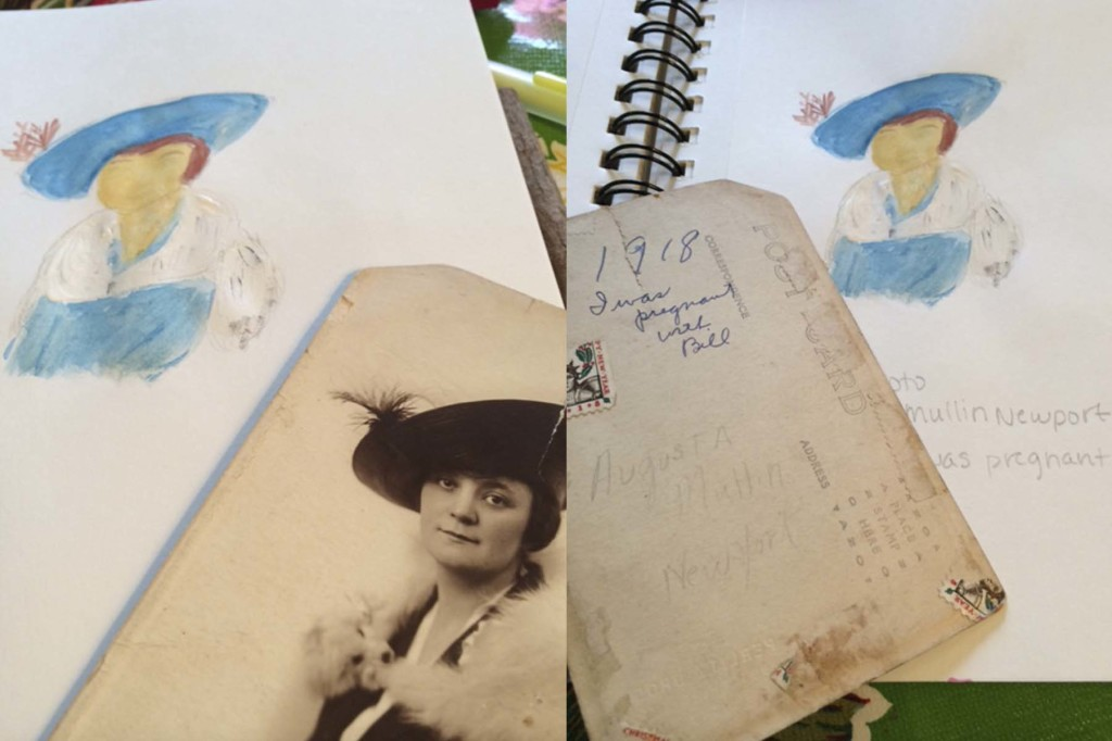 Painting from Found Photos::Laura Bray Designs