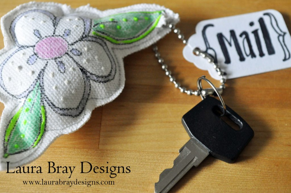 Quilted Flower Key Chains::Laura Bray Designs