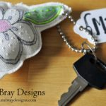 Quilted Flower Key Chains
