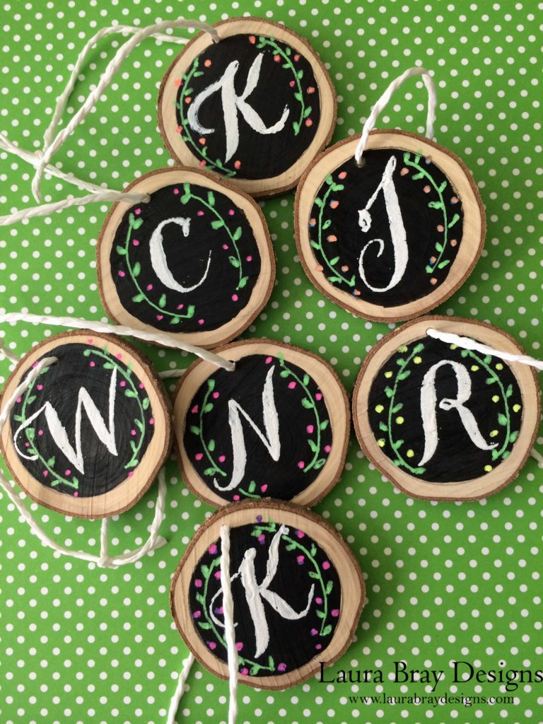 Faux Chalkboard DIY Holiday Gift Tags