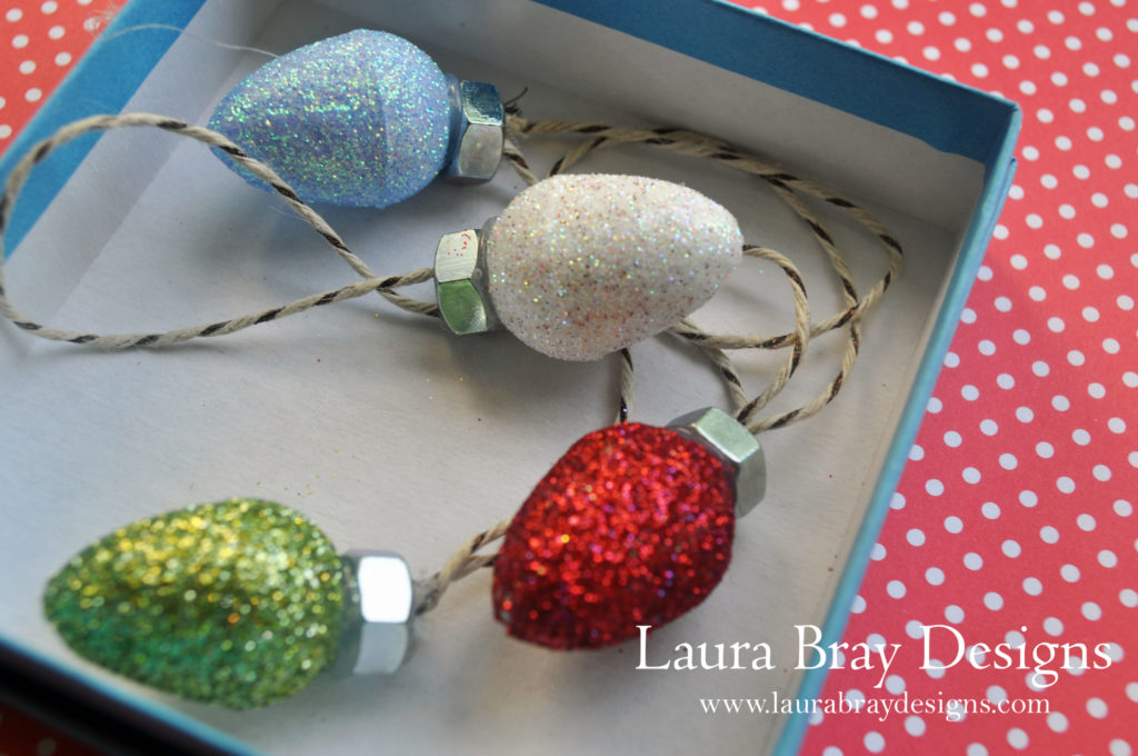 Smoothfoam Eggs as Christmas Ornaments! Be sure to save your extra eggs for December!