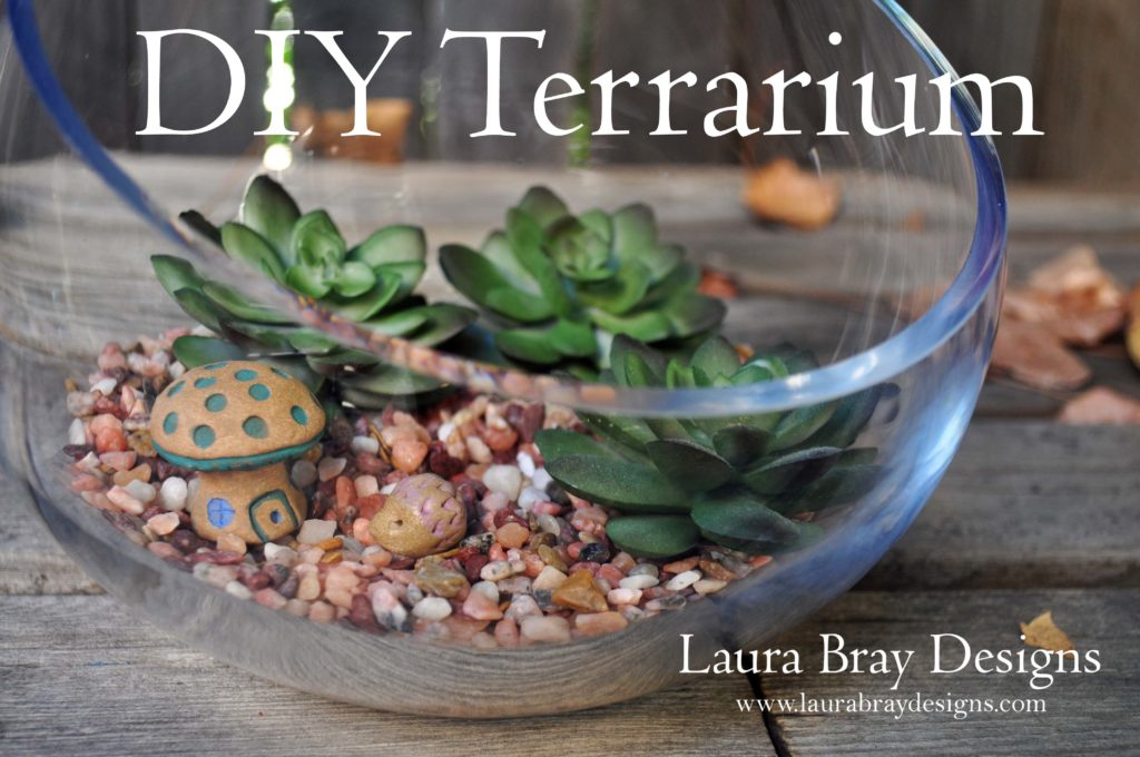 DIY Terrarium with faux succulents