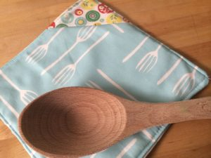 Fork it Over Fabric Hot Pad by Laura Bray Designs