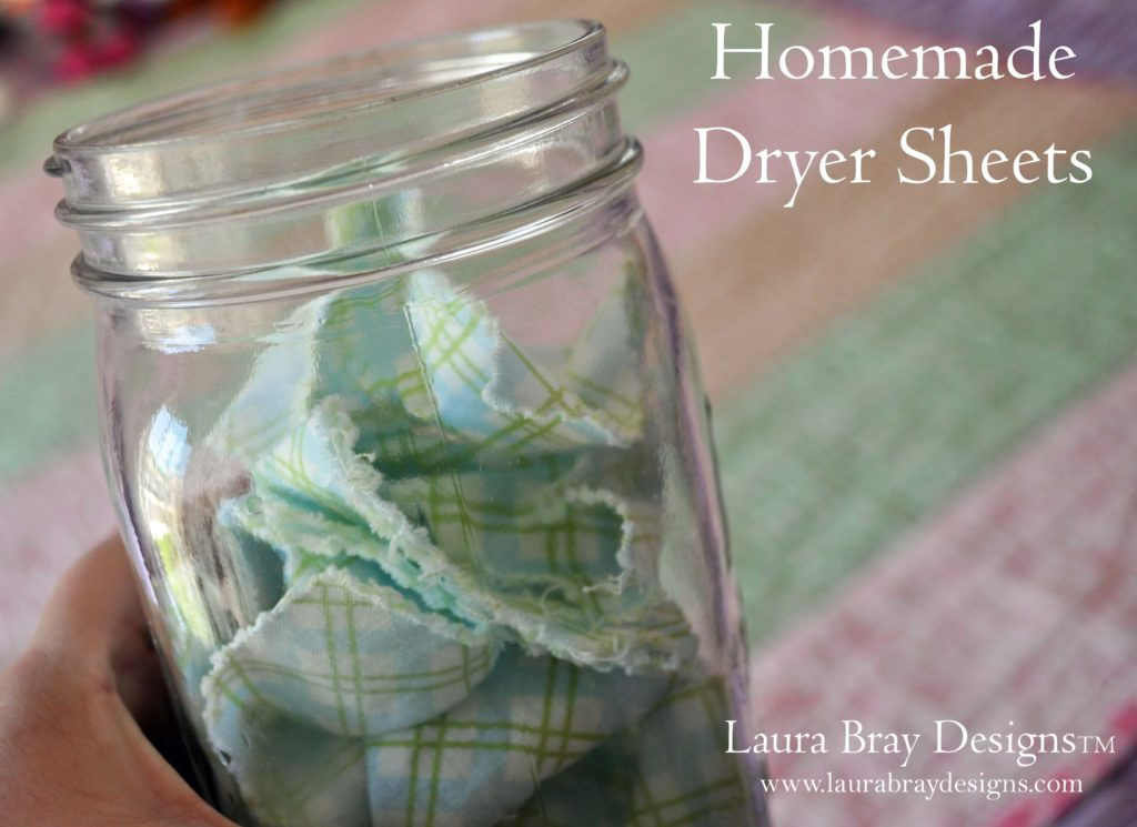 Homemade Dryer Sheets::LauraBrayDesigns.com