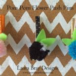 Pom Pom Flower Push Pins::LauraBrayDesigns.com