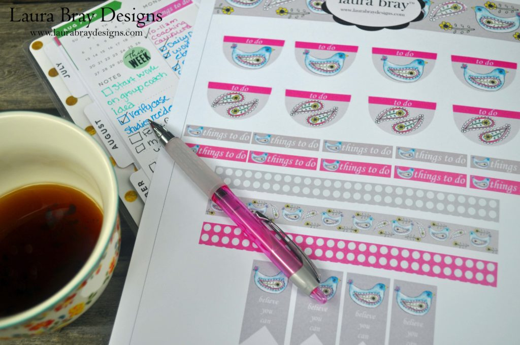 Free Printable Planner Stickers at LauraBrayDesigns.com