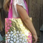 DIY Metallic Tote Bag