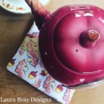 Falling for Fall fabric with teapot