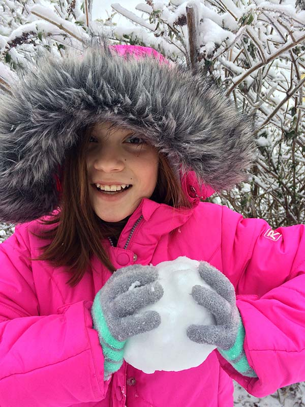 Liv with snowball