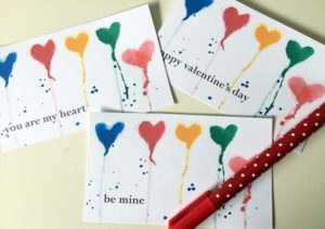 Watercolor Hearts Valentine's Day Printable