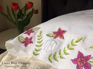DIY Monogrammed Pillowcase