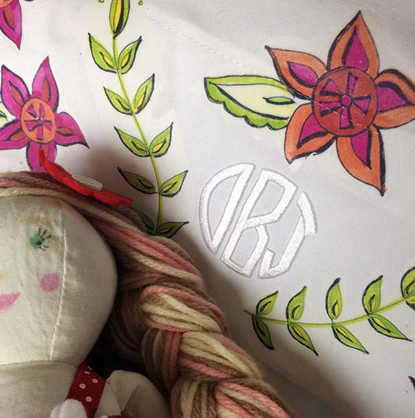 Make a Monogrammed Pillowcase with Laura Bray Designs