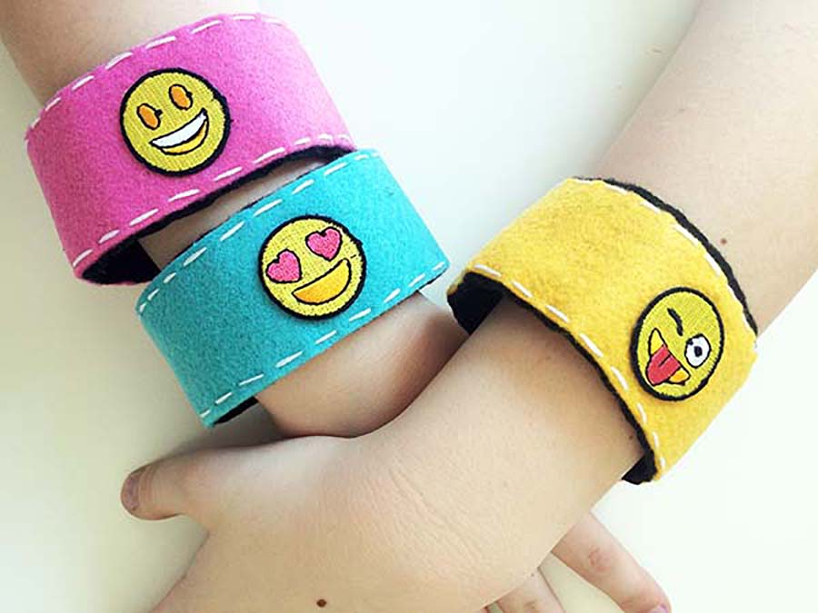 Emoji Party Ideas Cuff Bracelets