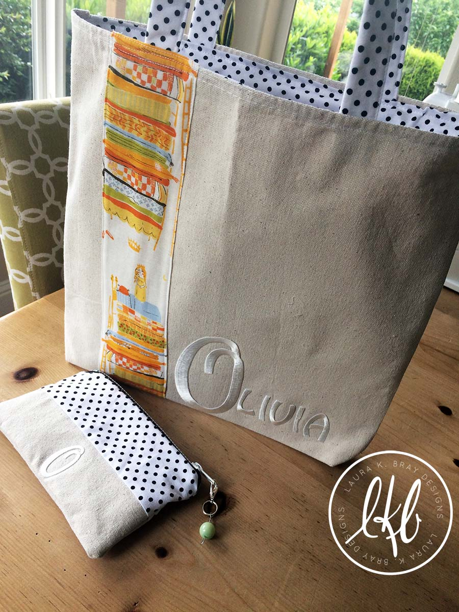 Make a zipper pouch with Laura Bray Designs