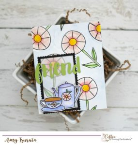 Tea in the Garden Card by Designer Amy Tsuruta