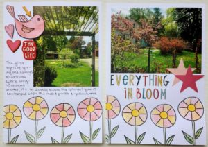 Everything's In Bloom Scrapbook Lay-Out with Guest Designer Kristin