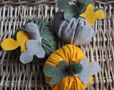 fabric pumpkins by laurakbray designs