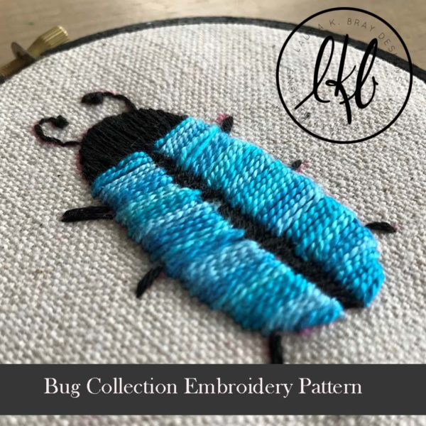 Bug Embroidery Pattern at LauraBrayDesigns.com