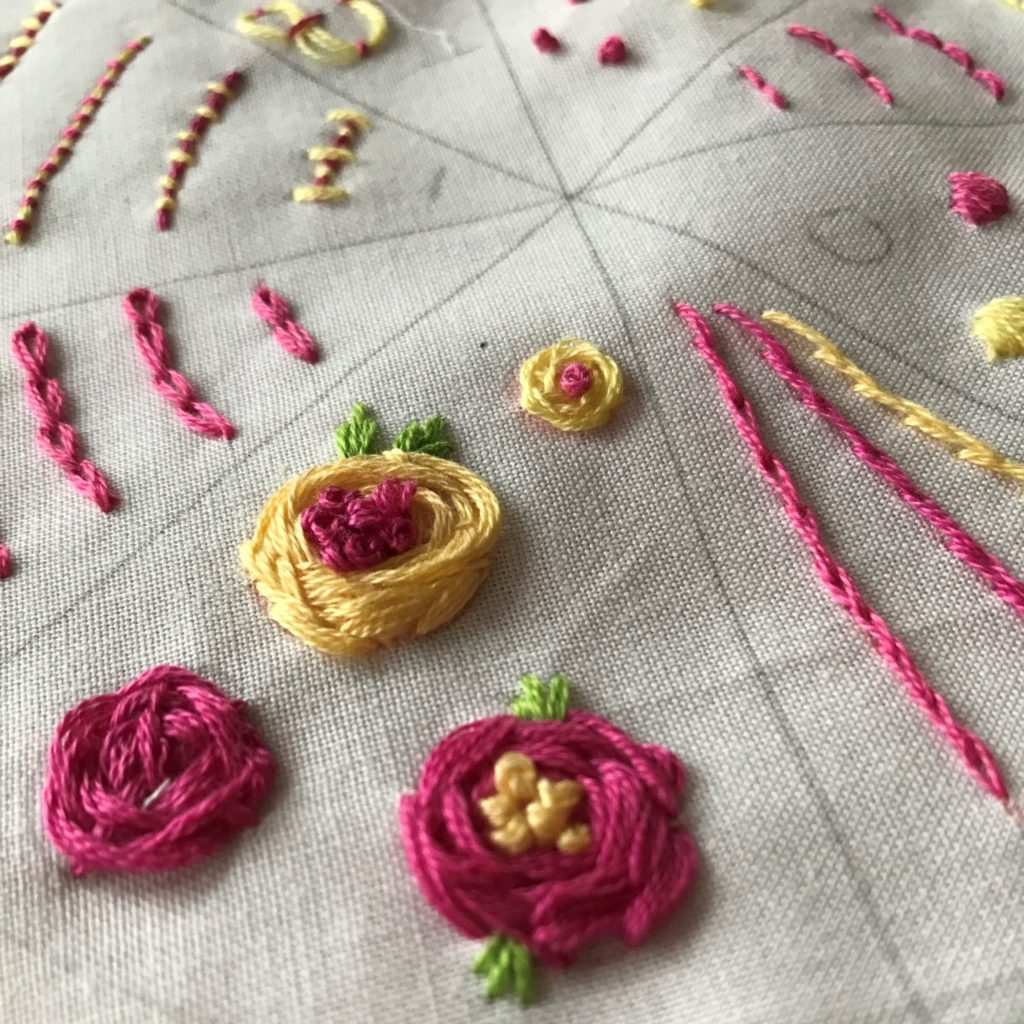 Wagon Wheel Rose Stitch Tutorial Laura K Bray Designs